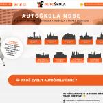 nový web autoškoly NOBE